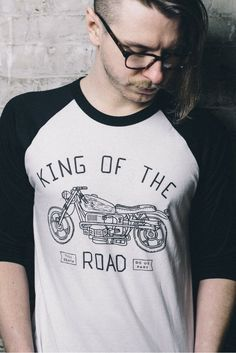 L&C's King Of The Road Tee White. #Shirt #MensShirt #MensWear #MensStyle #MensFashion #Style #GQ #FashionStyle #FashionWear #FashionTrend #Fashion #Trend #MensLook #LookBook #Handsome #FashionTrend #Style #Fall