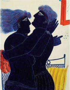 .:. Alecos Fassianos (Greek, b. 1935), The Kiss, 1979.