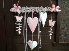 Dekoast + hearts + white + pink + shabby + white + from + Trends-and-More + au … – Valentine day gifts Valentines Day Decorations, Valentine Day Crafts, Christmas Crafts, Shabby, Nature Crafts, Decor Crafts, Diy Crafts To Sell, Crafts For Kids, Heart Crafts