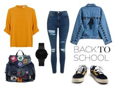 """""""Untitled #36"""" by susanamarques16 ❤ liked on Polyvore featuring Vans, Topshop, Dsquared2 and CLUSE"""