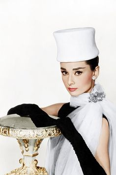 Audrey Hepburn In Hats (And On Your Coffee Table) #refinery29  http://www.refinery29.com/2013/07/49695/audrey-hepburn-hats-book#slide-5  Photo: Courtesy of Everett Collection / Reel Art Press