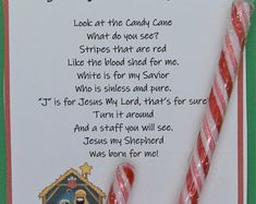 Legend of Christmas Candy Cane Jesus Poem Stocking | Etsy Christmas Poems, Christmas Candy, Christmas Gifts, True Meaning Of Christmas, Catechism, Little Gifts, Helping Others, Candy Cane, Stocking Stuffers