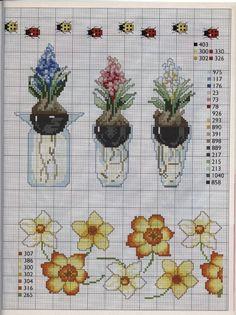 ladybugs  Hyacinths in vase  daffodil flowers   Gallery.ru / Фото #5 - 112 - mila29