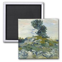 The Rocks by Vincent Van Gogh Magnets