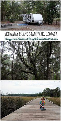 RV camping at Skidaway Island State Park near Savannah, GA: Campground review