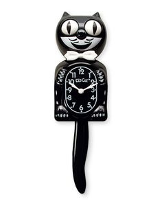Classic Black Kit-Cat Clock high) He's simply the Original. Classic Black Kit-Cat has been bringing time to life for over 80 years. Crazy Cat Lady, Crazy Cats, Kitsch, Kit Kat Clock, Cat Clock, Large Clock, Cat Wall, Retro Christmas, E Design