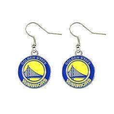 Golden State Warriors - NBA Team Logo Dangler Earrings by Aminco