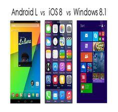 "Android L 5.0 ""Lollipop"" Update Preview vs iOS 8 Beta vs Windows Phone 8.1"