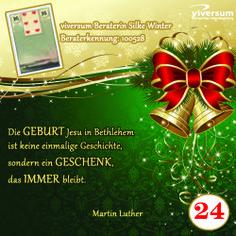 Das 24. Türchen unseres Adventskalenders ist geöffnet. www.viversum.de