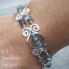 Wire Jewelry Tutorial HAMMERED SWIRLLINK by KSJewelleryDesigns