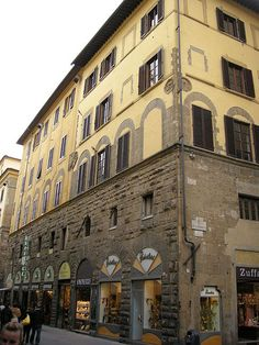 Via de' calzaiuoli, palazzo cavalcanti e della compagnia di orsanmichele ~ Firenze