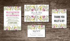 Wedding Invitation Suite Digital & Instant Download by Aticnomar