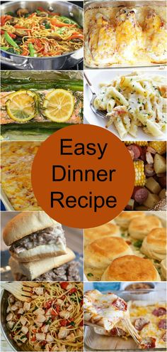 Easy Dinner Recipes - easy dinner recipes that the entire family will enjoy