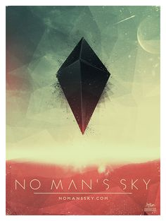 No Man's Sky Poster by Derek Brow | Shoelace Graphics http://dribbble.com/shoelacegraphic https://twitter.com/shoelacegraphic