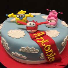O bolo de Antonio e os Super Wings! #ceciliachaves #bolosdecorados #superwings #festainfantil