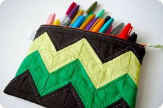 Chevron Pouch by Hip To Piece Squares, via Flickr