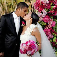 Tia Mowry and husband Cory Hardirict renew their wedding vows.