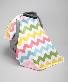 Take a look at this Posh Comforts Pink Crazy Zigzag Car Seat Canopy on zulily today!