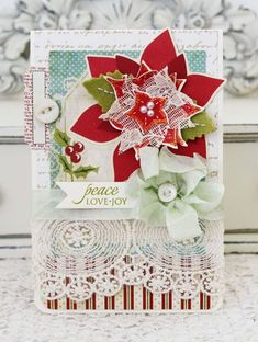 by Melissa Phillips: Lilybean Paperie Papertrey Ink's Christmas Poinsettia stamp set and dies