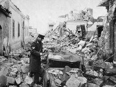 Gibellina, resti del terremoto e primi intervernti, 1968