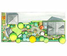 Long & Narrow Landscape Plan