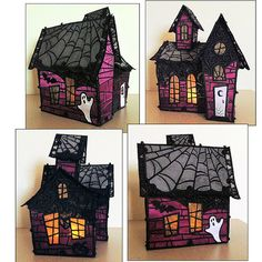 Cut Fabrics for OESD's Lace Haunted house with the Klic-N-Kut Zing!
