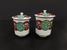 Set of Japanese Imari His and Her Porcelain Tea by LotusInTheWind