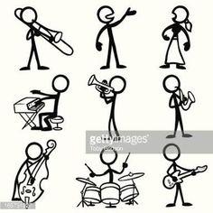 Resultado de imagem para stick figure playing drums