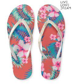 LLD Floral Tropics Flip-Flop -