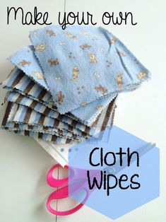 DIY Cloth Wipes from Receiving Blankets