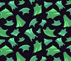 SparkleGhosts fabric by bucketface on Spoonflower - custom fabric
