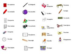 Interactive Spanish Powerpoint Activity with Classroom Object Vocabulary