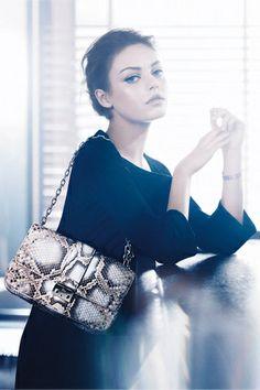 mila kunis for dior. i'll take the bag please