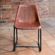 Rusticus Vintage Leather Metal Clyde Dining Chair - Furniture from J.N Rusticus Ltd UK Vintage Dining Chairs, Dining Table Chairs, Stylish Chairs, Handmade Furniture, Traditional Design, Vintage Leather, Industrial Style, Living Spaces, Turquoise