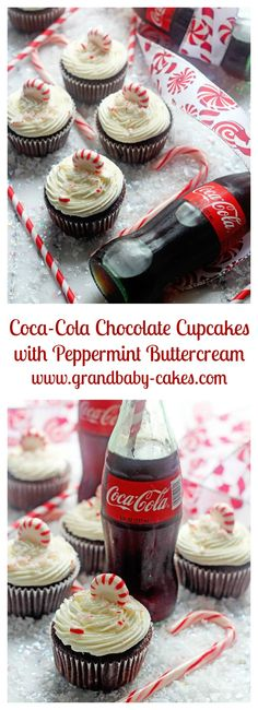 "The BEST Chocolate Cupcakes with Peppermint Buttercream Made with Coca-Cola | <a href=""http://Grandbaby-Cakes.com"" rel=""nofollow"" target=""_blank"">Grandbaby-Cakes.com</a>"