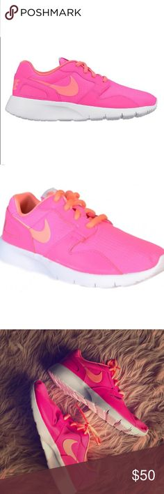 dcaf87e92c6c9 Pink Nike Kaishi sneakers NWOB. Bright pink and orange Nike Kaishi. Size 7  in