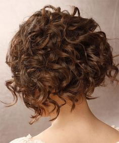 Formal Short Curly Hairstyle - back side view.. Sooo pretty i almost want to make my hair short... ALMOST XD lol