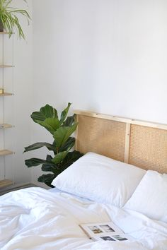 Home Interior Catalogo DIY cane headboard IKEA hack Ikea Headboard, Rattan Headboard, Headboards For Beds, Headboard Ideas, Murphy-bett Ikea, Diy Bett, Design Your Own Home, Headboard Designs, Blue Rooms