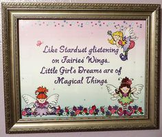 Made by Alix for her little girl's fairy & butterfly bedroom with DJ Inkers!  She used our 'Fairy Dust' clip art and 'DJ Grace' font.  http://www.djinkers.com/clipart/fantasy/fairy-dust-clipart-download.html  fairy nursery, butterfly nursery, fairy quotes