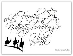 A Family Nativity Scavenger Hunt turns your family tradition of looking at Christmas lights into a way to seek for the nativity, like the shepherds and wise men.