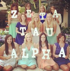Cute photo idea! We could buy and decorate letters and take bid day pics, 1 with new members, one with old, and one with everyone:)