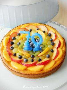 Vanilla cheesecake with fresh fruit