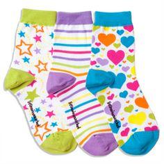 White Zany Ankle Socks