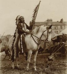 Iron Tail - Oglala - 1904 {Note: Sinte Maza (aka Iron Tail) was an Oglala Lakota man who fought at the Battle of the Little Big Horn in 1876. He also performed with Buffalo Bill's Wild West Show during the 1890's and with the Miller Brothers 101 Ranch Wild West Show near Ponca City, Oklahoma from 1913 to 1916. He died of pneumonia on 28 May 1916 while traveling by train to South Dakota. He was one of three models for the Indian Head Nickel designed by James Earle Fraser.}