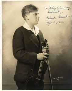 Yehudi Menuhin, child prodigy, world renowned violinist and conductor.