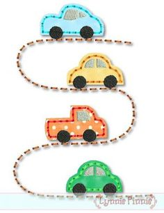 Embroidery Designs - Cars on the Road STITCHY Applique 4x4 5x7 6x10 7x11 SVG - Welcome to Lynnie Pinnie.com! Instant download and free applique machine embroidery designs in PES, HUS, JEF, DST, EXP, VIP, XXX AND ART formats.