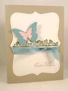 Stampin Up Beautiful Wings, top note die. BEAUTIFUL card! simple elegance.