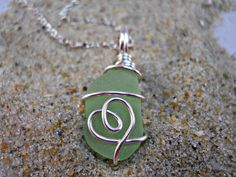 Beach+Glass+Pendant+Sea+Glass+Pendant+Green+by+BeachGlassBaubles,+$30.00