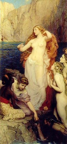 """""""The Pearls of Aphrodite"""", by Herbert James Draper (English, 1863-1920)."""
