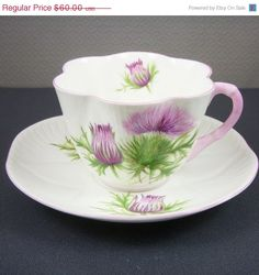 Vintage Shelley Thistle Fine Bone China by scdvintage,